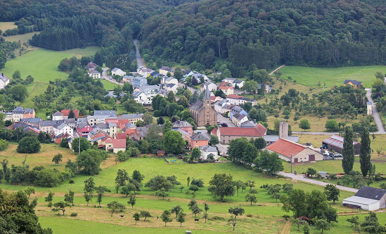 Vue aérienne de Bech, Luxembourg